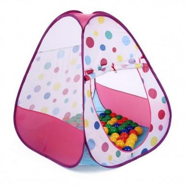"""Домик """"Треугольник маленький"""" + 100 шаров, розовый"""