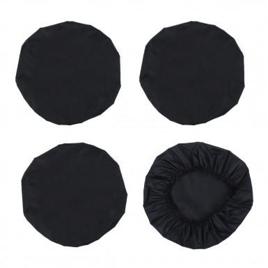 Чехлы на колеса коляски, цвет черный