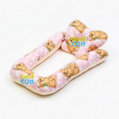 """Спальное место для новорожденных """"BabySleep"""" в форме U """"Мишки"""""""