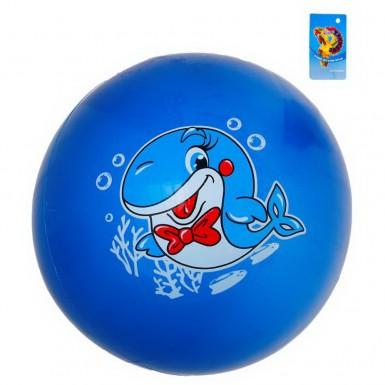"""Мяч детский """"Дельфин"""" 16 см (синий)"""
