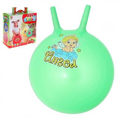 """Мяч-попрыгун с рожками """"Счастливые улыбки"""", 45 см (зеленый)"""
