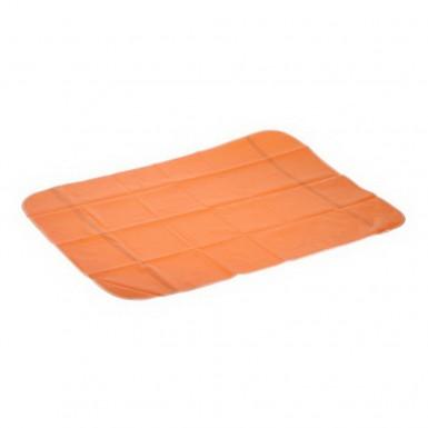Клеенка с ПВХ покрытием на резинке (70х100см) оранжевая