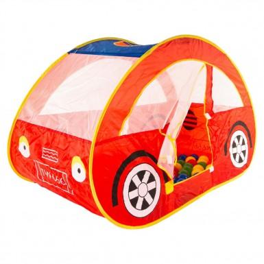 """Игровой домик-палатка  """"Автомобиль"""" с мячиками (100шт.)"""