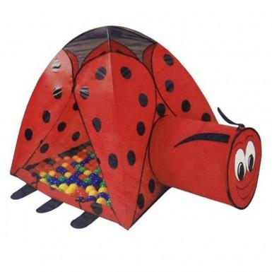 """Игровой дом-палатка """"Божья коровка"""" + туннель (100 шаров)"""