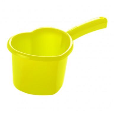"Ковш ""Сердечко"" (1,5 л.) лимон"