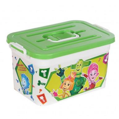 Контейнер для хранения 10л ФИКСИКИ (зеленый)