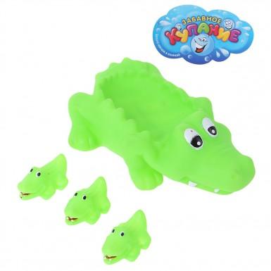 """Набор для ванны """"Крокодильчик"""", 4 предмета"""