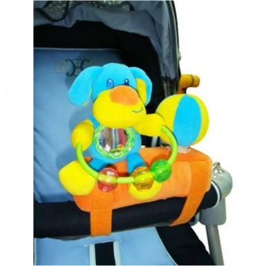"""Развивающая игрушка-подвеска на бампер коляски """"СОБАКА"""""""