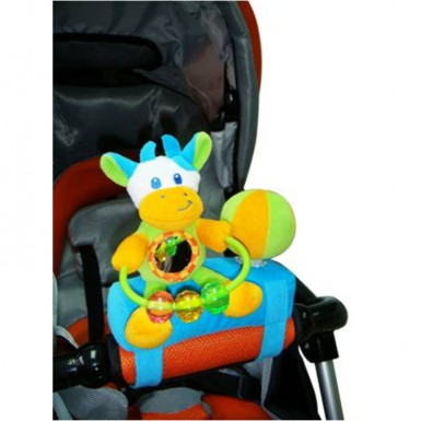 """Развивающая игрушка-подвеска на бампер коляски """"КОРОВКА"""""""