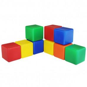 Набор цветных кубиков, 9 штук 6 х 6 см