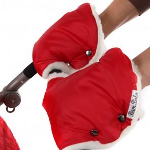 Муфты-варежки на ручку коляски лайт (красный)