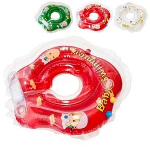 BABY SWIMMER Круг для купания (3-12кг) Полуцвет+погремушка