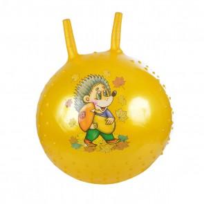 "Мяч-прыгун ""Ежик"" 38 см, желтый (с насосом)"