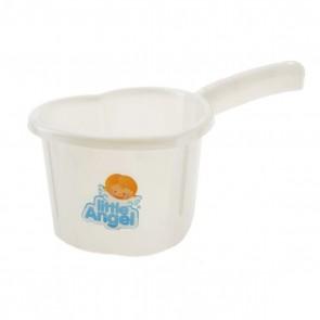Ковш для детской ванночки белый перламутр