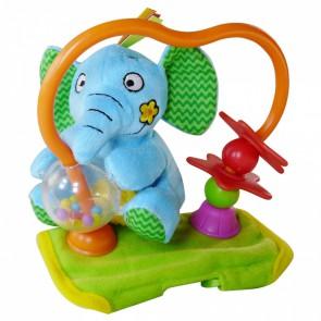 """Развивающая игрушка на бампер коляски """"СЧАСТЛИВЫЙ СЛОНЕНОК"""""""