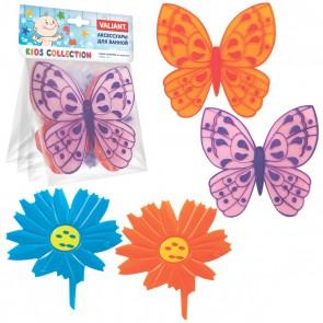 "Набор мини-ковриков ""Бабочки-цветочки"" 4 шт."